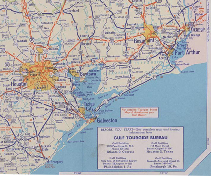 Map of Southeast Texas