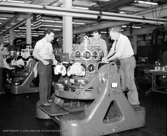 War production for Motor city assembly line